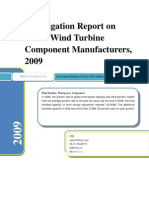Investigation Report on China Wind Turbine Component Manufacturers, 2008-2009