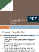 Osmotic Fragility Test