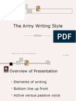 army writing ppt