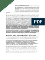 Relacion Economia Con Administracion