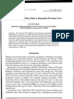 PHOBIES & REENCARNATION