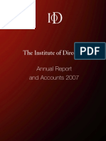 IoD Report and Accounts 2007