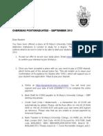 Overseas Postgraduate Info 2012