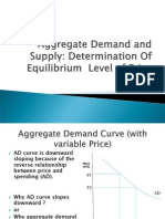 AD and as in Determination of Equilibrium PRICE