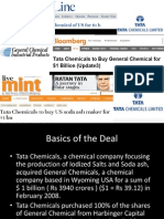 Acquisition of GC by Tata Chem