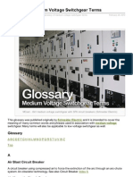 Glossary of Medium Voltage Switchgear Terms