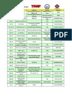 2013 Multisport Calendar