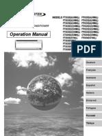 manual de operación ftxs-d