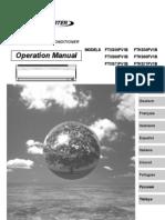 manual de operación ftxs-f español