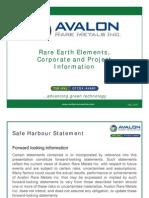 Avalon Rare Metals Presentation