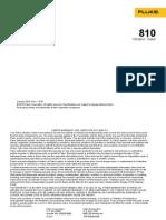 User Manual Fluke 810 Vibro meter