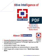 Competitive Intelligence of Hdfc Final