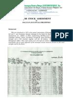 Fish Stock AssessmentinBalayanBatangas