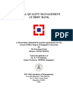 Project Report on TQM