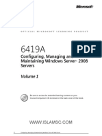 6419A-En Configuring Managing Maintaining Windows Server08 Servers-TrainerWorkbook Vol1