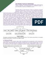 Database Models (Types of databases)