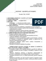 Fisa Post Manipulant Marfa