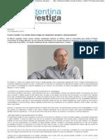 """García Canclini_ """"Los medios tienen el lugar de orientadores del gusto y del pensamiento"""" _ Argentina Investiga"""