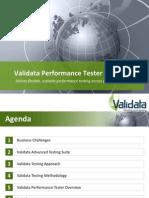 Validata Performance Tester Product Presentation