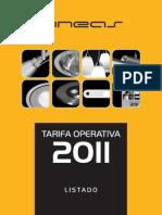 Tarifa Operativa 2011