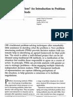 Problem Structuring Methods Psm