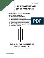 Tugas Ti-personal Ogi No.31 Sistem Informasi