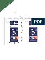 Anexo 10 Distintivo de Vehículo para Personas con Discapacid