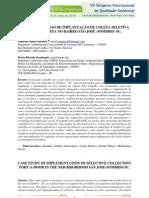 Estudo de caso de implantação de coleta seletiva