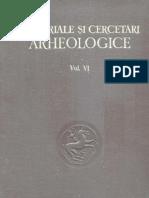Materiale şi Cercetări Arheologice (MCA), volumul VI - 1959