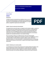 LA SOLUCIÓN PACÍFICA DE LAS CONTROVERSIAS INTERNACIONALES