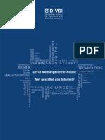 DIVSI Meinungsführer-Studie - Wer gestaltet das Internet?