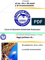 Corso OAS - Biologia marina da -18 a -30 metri