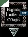 Michael W Ford Beginning Luciferian Magick