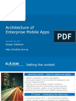 Enterprise Architecture for Mobile Apps