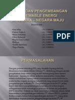 Potensi Dan Pengembangan Renewable Energi