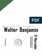 Benjamin, Walter, El Narrador