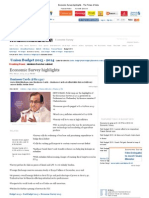 Economic Survey Highlights - The Times of India