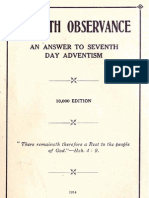 1914 Sabbath Observance