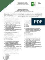 CIENCIAS NATURALES 8º PRUEBA de DIAGNOSTICO 2012-