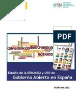 ONTSI Estudio oGov en España febrero 2013