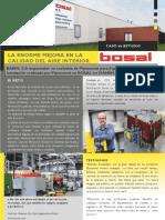 Instalación aspiración humos de soldadura empresa BOSAL