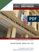 Orientações sobre TCC do Centro Paula Souza