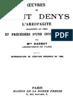 Saint Denys l'Aeropagite Oeuvres