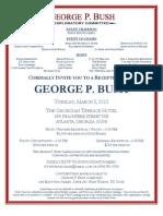 George P. Bush fundraiser invite