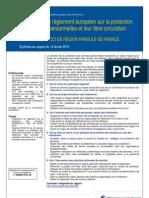Proposition de règlement européen sur la protection des données personnelles et leur libre circulation - Rapport du 14 février 2013