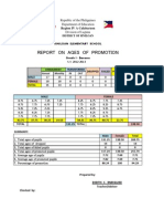Report on Ages of Promotion