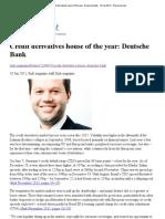 Risk.net - Credit Derivatives House of the Year_ Deutsche Bank - 10 Jan 2012