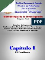 METODOLOGIA DE LA INVESTIGACIÓN PROYECTO FINAL
