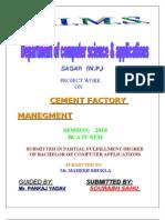 Cemant Fectory Management