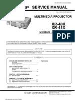 XR40_XR41_XGF260X Sharp Service Manual